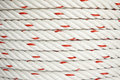 Polypropylene rope texture of coil of Stock Image