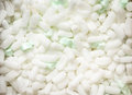 Polystyrene packing pieces Royalty Free Stock Photo