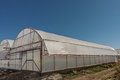 Polythene greenhouse an industrial exterior Stock Photos