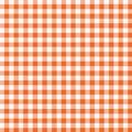 Pomarańczowy gingham white Zdjęcia Royalty Free