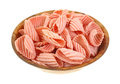 Pomegranate Chips Wooden Bowl Royalty Free Stock Photography