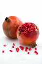 Pomegranate fruit ripe isolated on white background Royalty Free Stock Photo