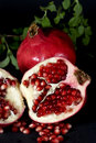 Pomegranate halved Royalty Free Stock Photos