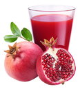 Pomegranate juice with pomegranate Stock Images