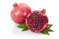 Pomegranate with leaves Royalty Free Stock Image
