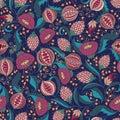 Pomegranate Pattern Royalty Free Stock Photo