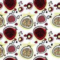 Pomegranate pattern vector Royalty Free Stock Photo