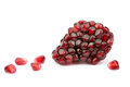 Pomegranate seeds on white background Stock Photo