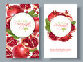 Pomegranate vertical round banners