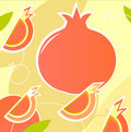 Pomegranate - wild retro stylized texture - orange Stock Images