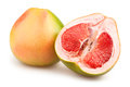 Pomelo cut on white background Royalty Free Stock Images