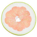 Pomelo slice of isolated on white background Stock Image