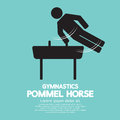 Pommel horse gymnastics vector illustration Stock Image