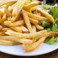 Pommes frites d or Images stock