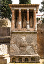 Pompei ancient rome in we get an insight into years ago mausoleum Royalty Free Stock Photos