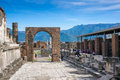 Pompei italy may the ruins of ancient roman town pompeii that was completely destroyed in ad by the eruption of mount vesuvius Royalty Free Stock Photography