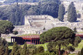 Pompei ruins aerial view campania italy Royalty Free Stock Images