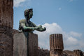 Pompei ruins statue in the Stock Image
