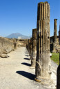Pompei and Vesuvius Royalty Free Stock Photo