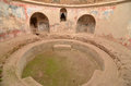 Pompeii baths ancient roman frigidarium or cold part of the stabian bath complex at pompei italy Royalty Free Stock Photography
