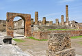 Pompeii forum in near naples in italy unesco world heritage site Stock Photography