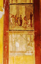 Pompeii frescoes details of roman in italy Royalty Free Stock Photo