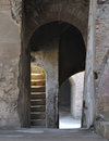 Pompeii italy archways leading to a theatre in the ruins Royalty Free Stock Images