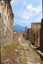 Pompeii italy the ruins of the roman city of circa in a ruined roman city near modern naples in region of Royalty Free Stock Photos