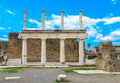 Pompeii italy ruins site of city that destroyed in bc by the eruption of mount vesuvius naples Royalty Free Stock Photos