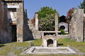 Pompeii italy villa garden at the archaeological site Royalty Free Stock Photo