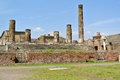 Pompeii ruins in near naples in italy unesco world heritage site Stock Photography