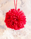 Pompom decoration Royalty Free Stock Photo