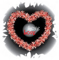 Pompom Heart Illustration Royalty Free Stock Images