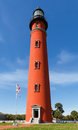 Ponce inlet light the brilliant red lighthouse at florida s de leon formerly mosquito has stood watch over the atlantic ocean Stock Images
