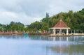 Pond of Flower Park, Dalat, Vietnam Royalty Free Stock Photo