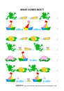 Pond life themed educational logic game - sequential pattern recognition