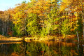 Pond in white mountain national forest new hampshire usa Stock Photography