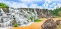 Pongour waterfall. Panorama Royalty Free Stock Images
