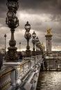 Pont Alexandre III - Bridge in Paris, France. Royalty Free Stock Photo