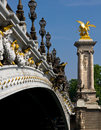 Pont Alexandre III, Paris Stockfotos