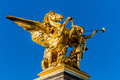 Pont alexandre iii paris city france alexander the third bridge in the of in Royalty Free Stock Images