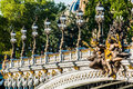 Pont alexandre iii paris city france alexander the third bridge in the of in Stock Photos