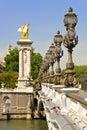 Pont Alexandre III, Paris - France Royalty Free Stock Photography