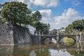 Pont au palais impérial tokyo japan Photo stock