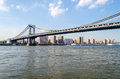 Pont de manhattan new york Photos libres de droits