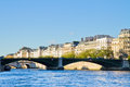 Pont de sully paris france seine river and Royalty Free Stock Photos