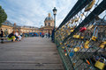 Pont Des Arts Locks Mazarine Royalty Free Stock Photography