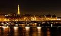 Pont des Arts in Paris at night Royalty Free Stock Photo