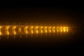 Pont des martyrs bridge at night in bamako on the river with incredible lights Stock Image