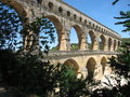 Pont du Gard aqueduct Royalty Free Stock Photo